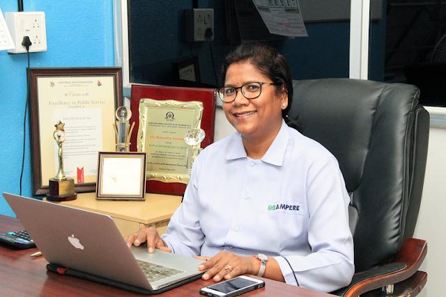Women Entrepreneur Award to Hemalatha Annamalai, CEO, Ampere Vehicles