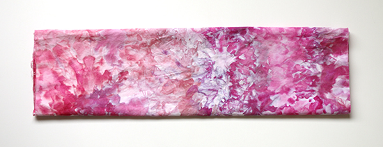 Ice Dyed Fat Quarter in Pink and Purple