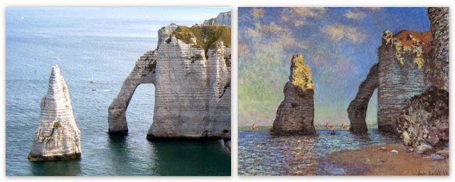 Normandie, Etretat, olifantrots door Monet