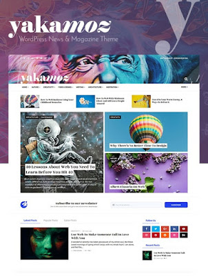 Yakamoz - Magazine, News and Blog WordPress Theme For Your Business
