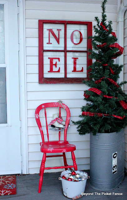use inexpensive items from the thrift store for Christmas decor