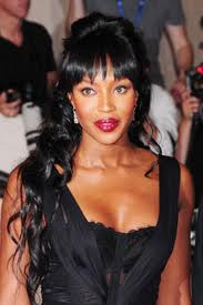 Naomi Campbell, red lipstick