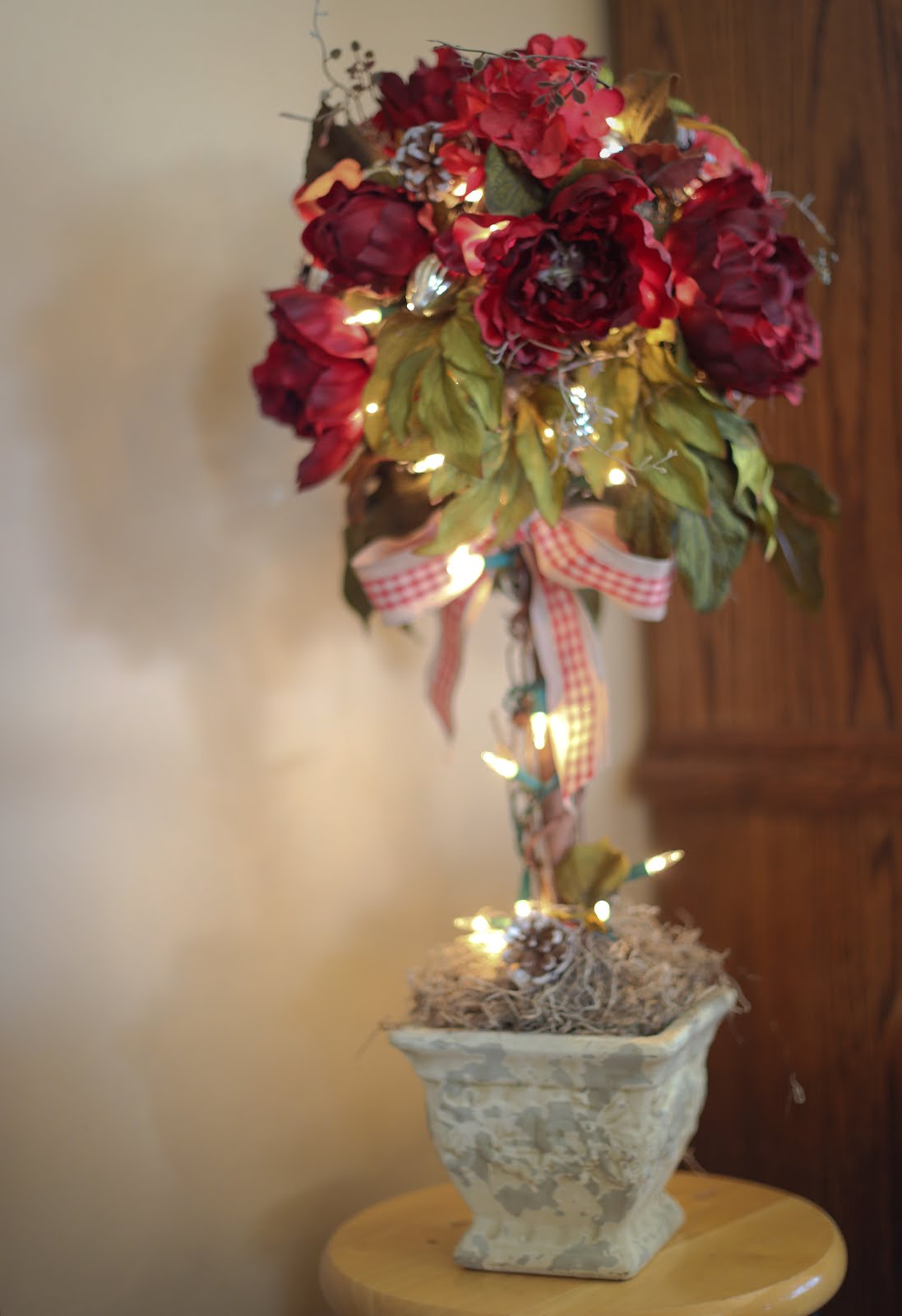 Make a Winter Topiary Tree