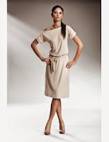 Rochie cu fermoar - Crem