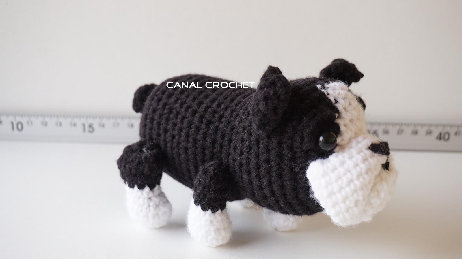 Amigurumi Bulldog Pattern : CANAL CROCHET: Perro Bulldog amigurumi tutorial