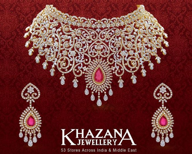 f2586686f19a1 Diamond Set by Khazana Jewellery - Jewellery Designs