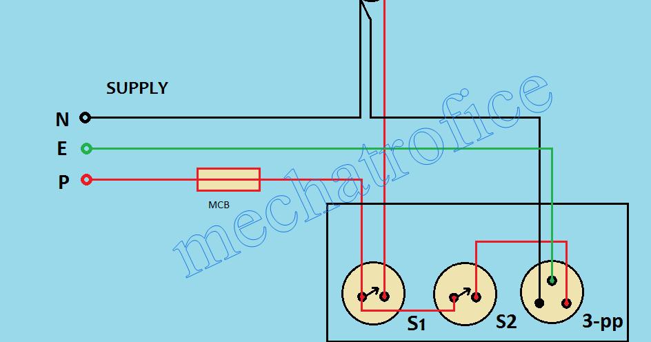 Switch box wiring diagram | Mechatrofice