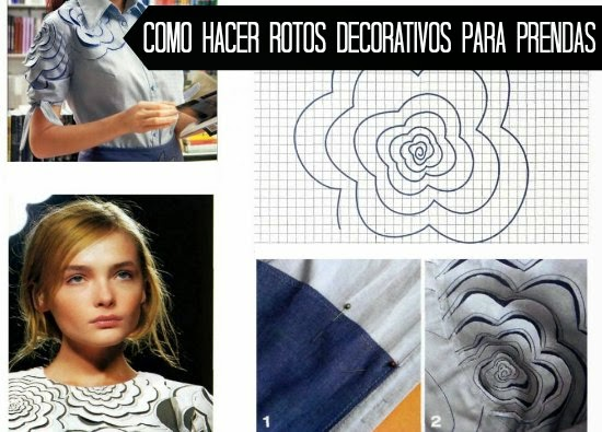 "Como Tunear Prendas con ""Rotos Decorativos"""