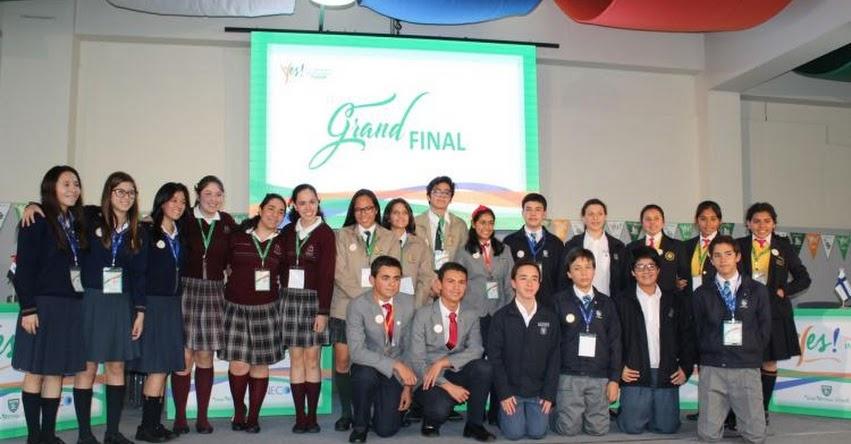 Escolares del Perú y del extranjero debatieron en inglés sobre problemas sociales