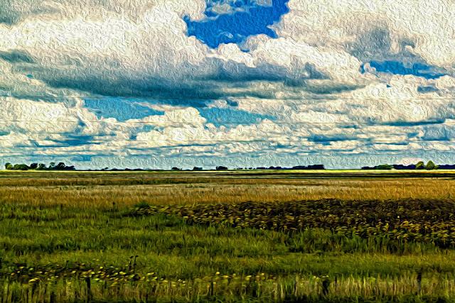 Fotografía Paisaje editada con filtro Pintura al óleo