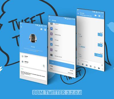 Download BBM Mod Twitter Versi 3.2.0.6 Apk Terbaru Untuk Android