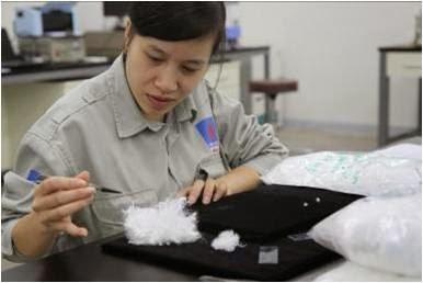 sản xuất xơ sợi polyester