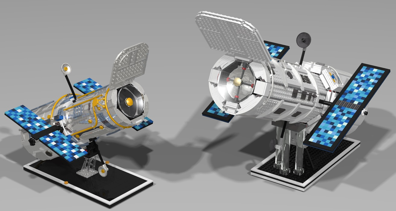 The Brickverse Hubble Space Telescope gets to Lego Ideas