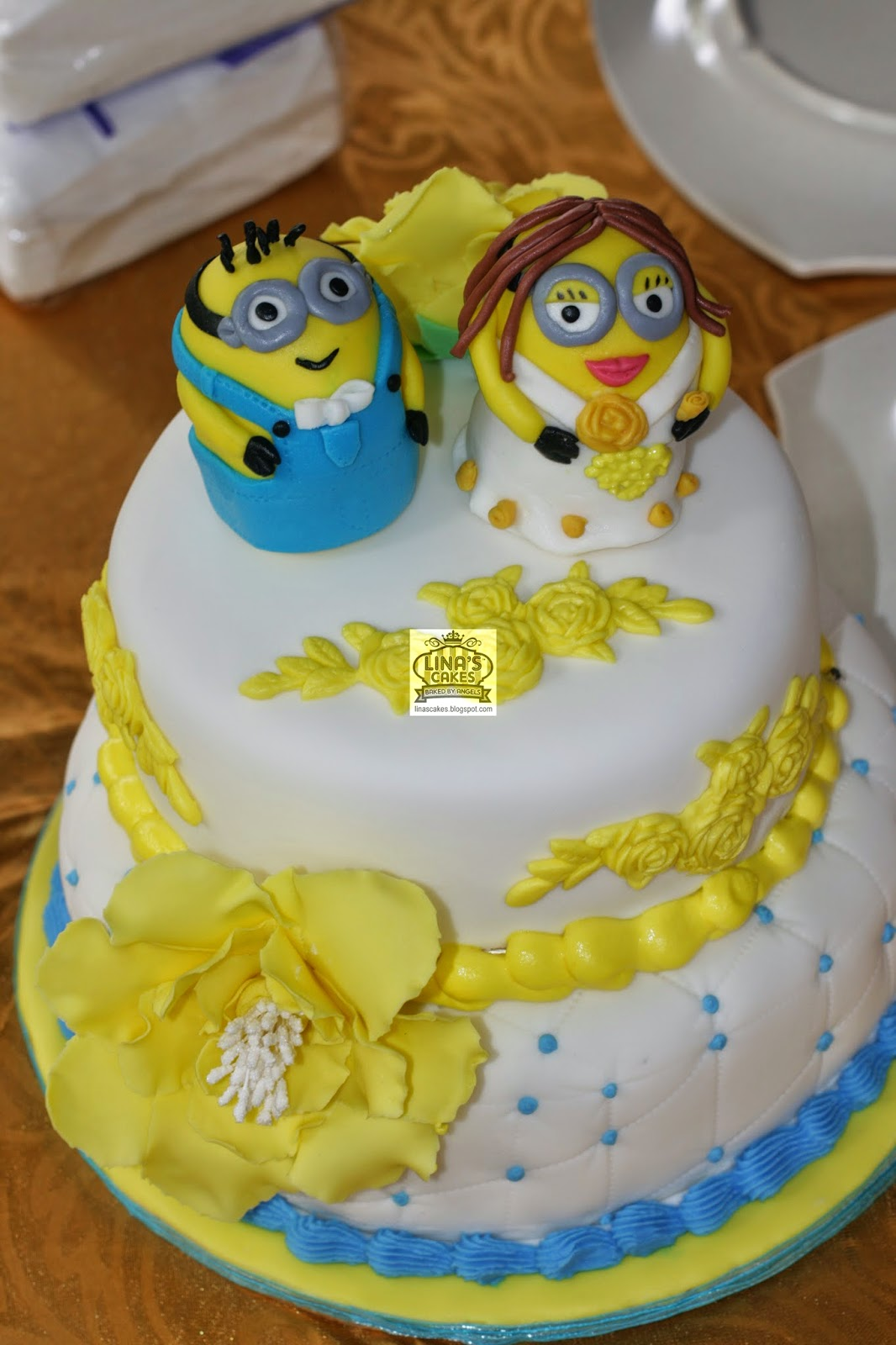 how to make a minion wedding cake topper linascakes baked by minion wedding cakes 15822