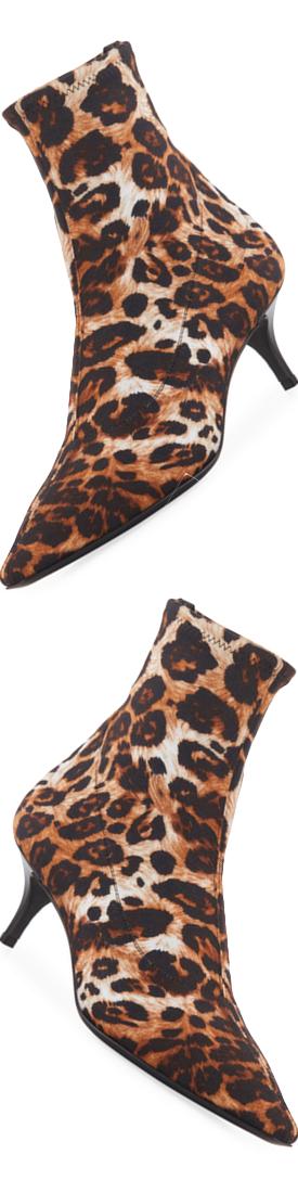 Giuseppe Zanotti Leopard-Print Neoprene Bootie