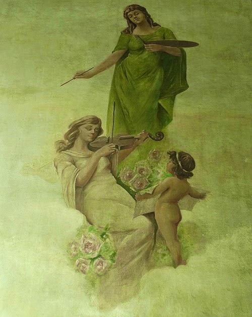 Pintura em parede na entrada da Biblioteca Pública Pelotense, Pelotas