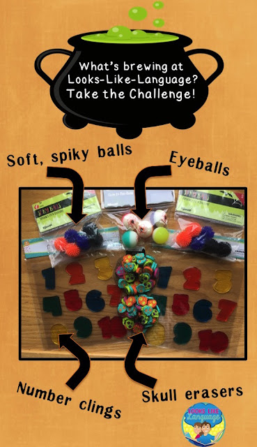 Halloween speech/language therapy idea challenge at Looks-Like-Language