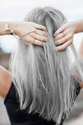 elegant gray hairstyle