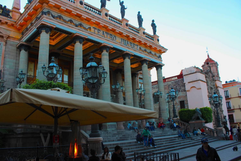 jardin de la union and teatro juarez guanajuato