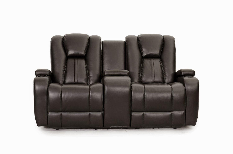 Seatcraft Black Lane Sofa Recliner Leather