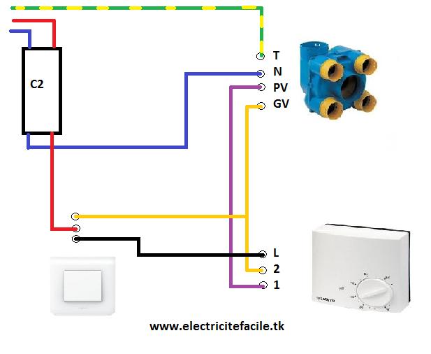 vmc 2 vitesses par hygrostat commander par interrupteur schema electrique. Black Bedroom Furniture Sets. Home Design Ideas