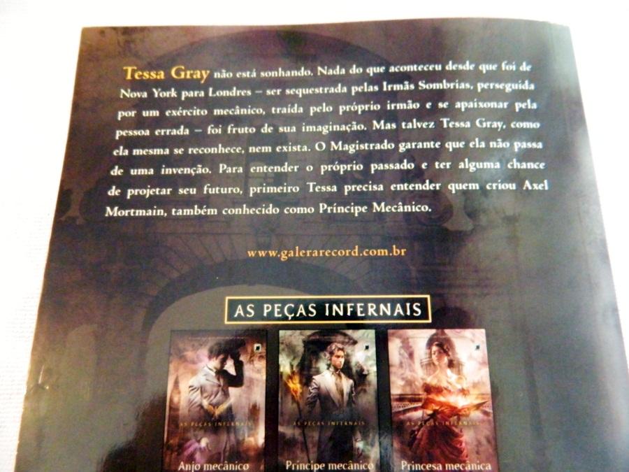 Príncipe Mecânico, As Peças Infernais - Cassandra Clare