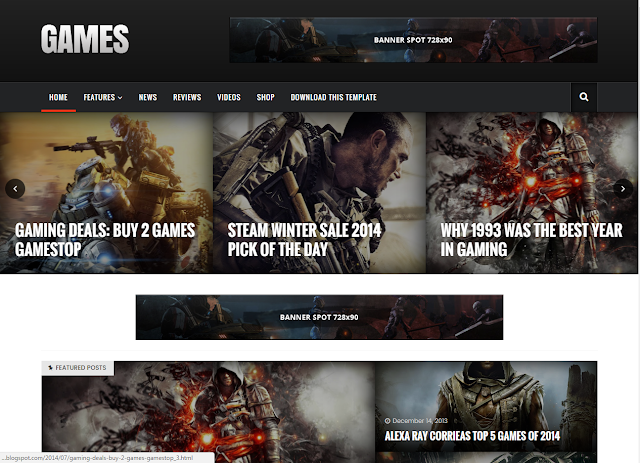 sora games - gaming blogger templates