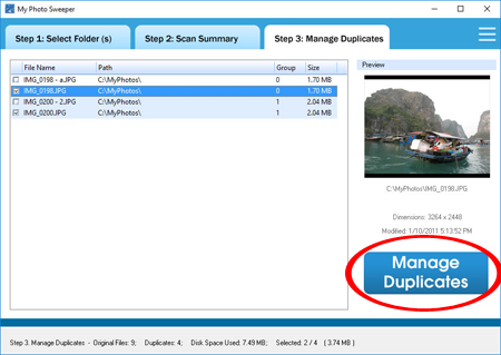 manage duplicate photos