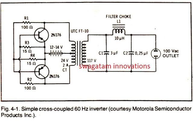 simple inverter using PNP BJTs