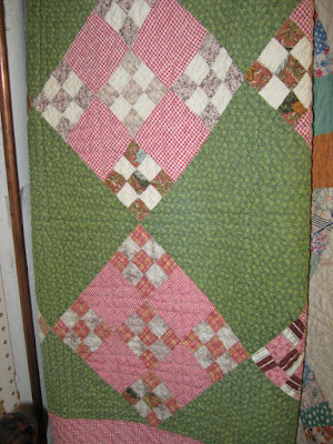 vintage double nine-patch quilt