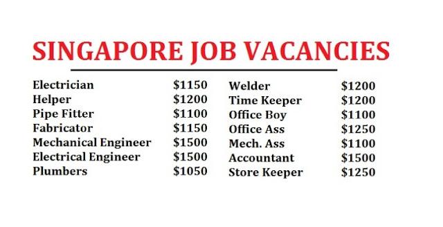 NEW SINGAPORE JOB VACANCIES - DUBAI JOB WALKINS