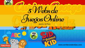 ¿Que piensas de los juegos educativos online? Aqui tienes una recopilacion de 5 paginas web juegos educativos online para niños.