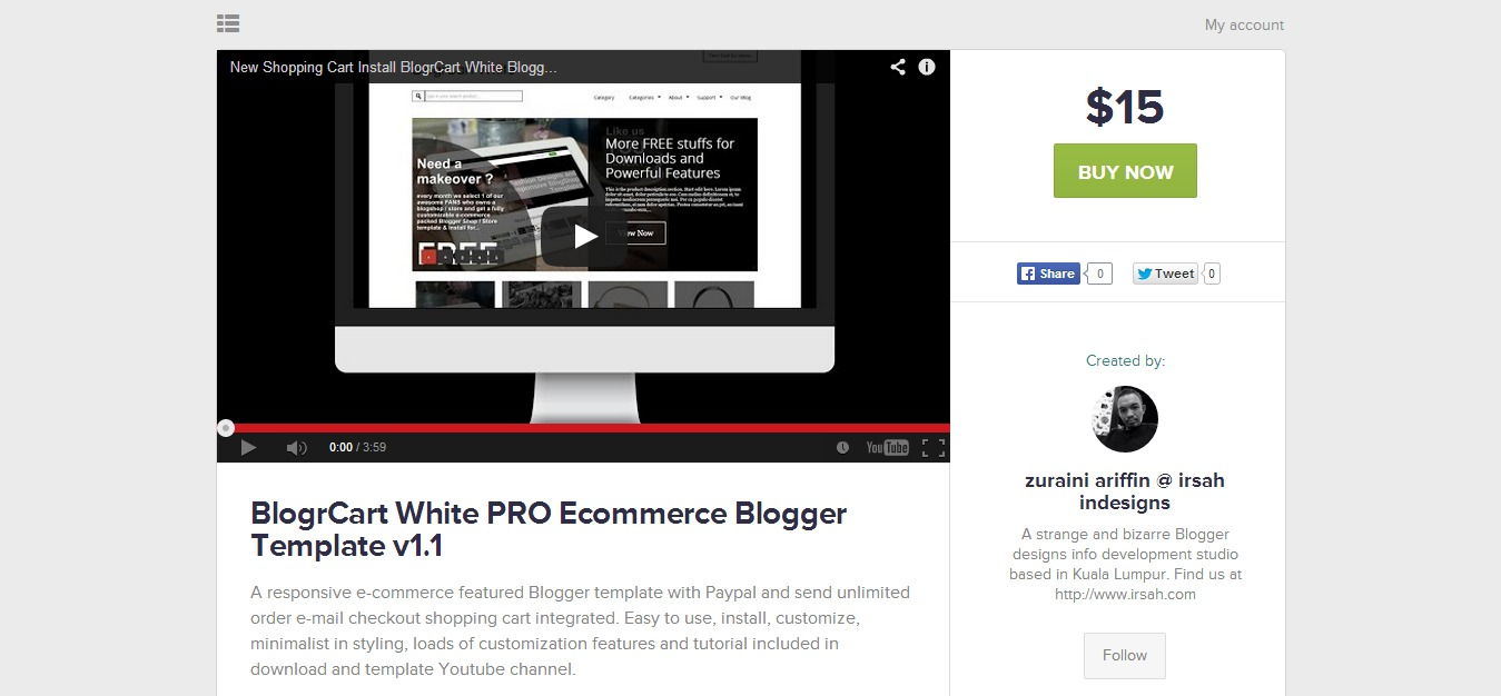 BlogrCart PRO full featured e-commerce download available