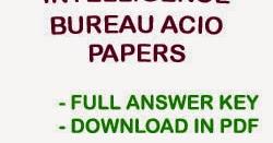 Ib Acio Previous Papers Pdf In Hindi