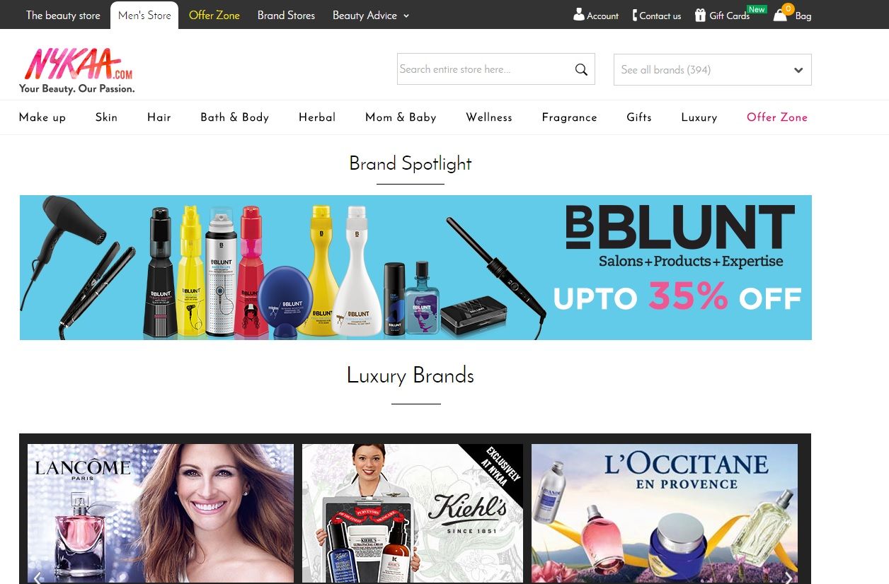 Online beauty stores in india style destino for Best website for online store