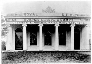 Брайтон:  на фронтоне галереи хорошо видна надпись «1825. Royal spa. Struve & Co»