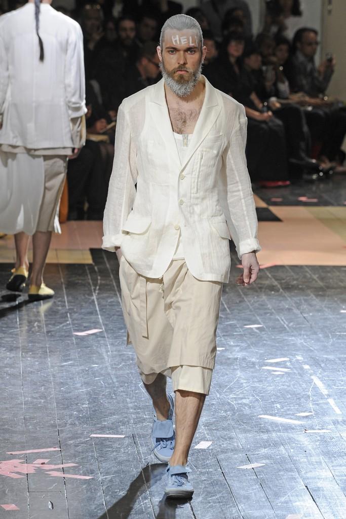 Yohji Yamamoto Menswear spring 2014