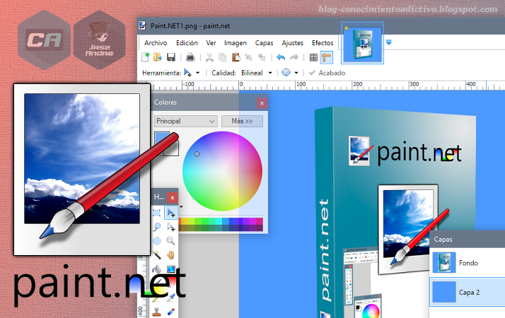 paint.net - Editor de imágenes gratuito intermedio entre Paint y Photoshop