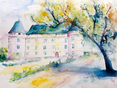 castle Islette watercolor