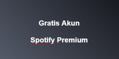 Gratis Terbaru Akun Spotify Premium Auto Renew 1 Month