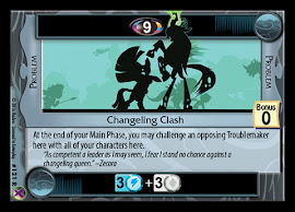 My Little Pony Changeling Clash Marks in Time CCG Card
