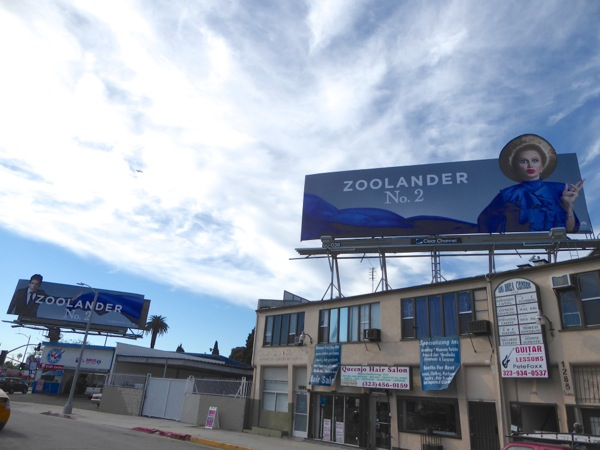 Interconnecting Zoolander 2 movie billboards