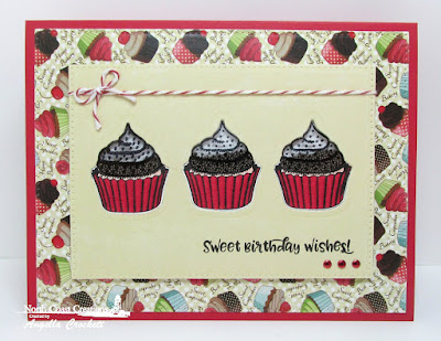 North Coast Creations Stamps and Dies: Sprinkled with Love, Paper Collection: Sweet Shoppe, ODBD Custom Die: Pierced Rectangles