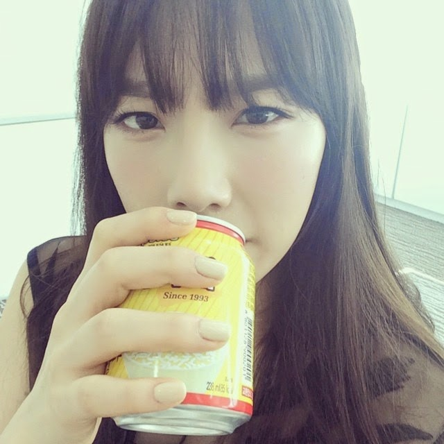 Want to have some rice drink with SNSD's TaeYeon ...