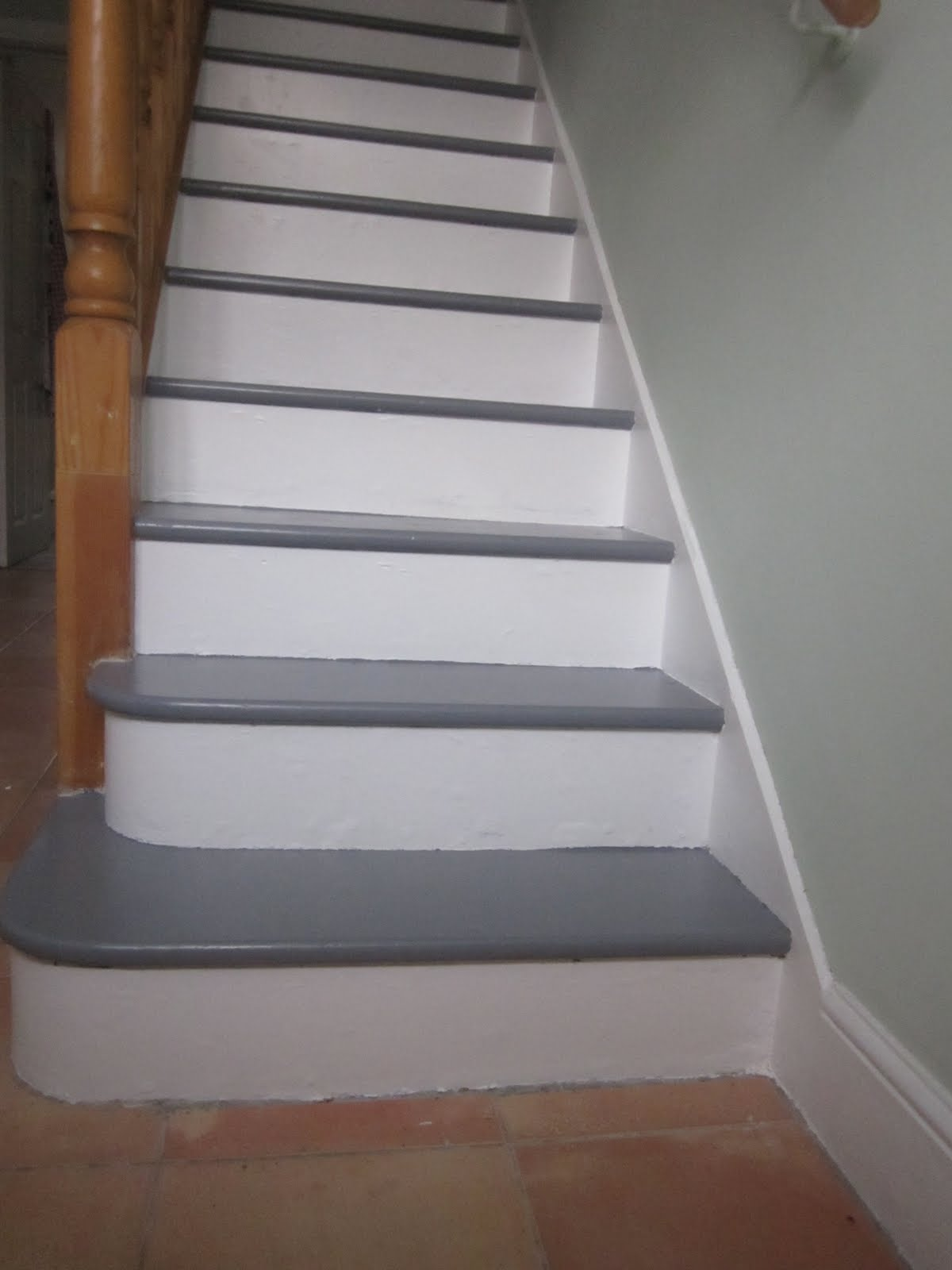 niall and mitch got hitched: Painted Stairs-Main Floor