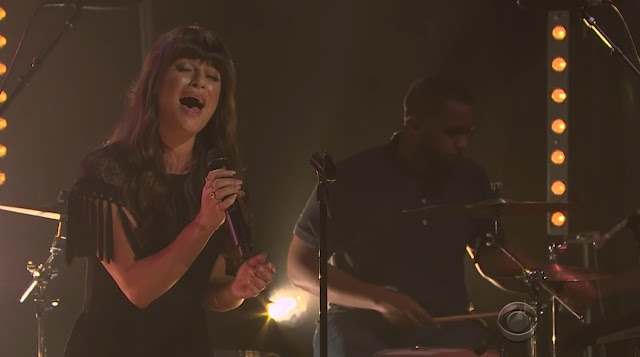 "Lea Michele Performs ""Love Is Alive"" On The Late Late Show"
