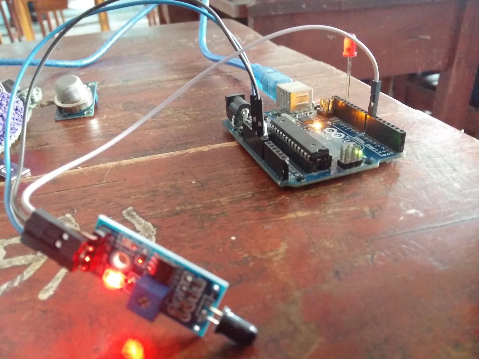 Arduino flame sensor robotik tangerang