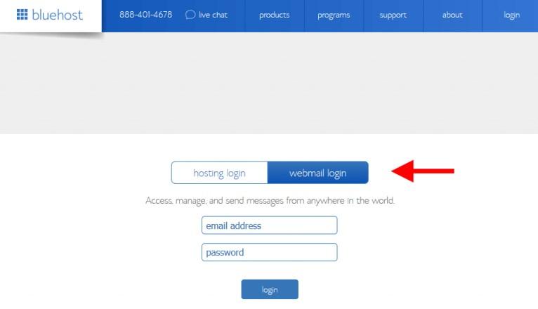 bluehost-webmail-login