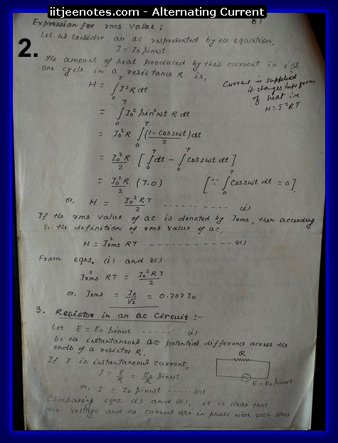 alternating current class 12  notes