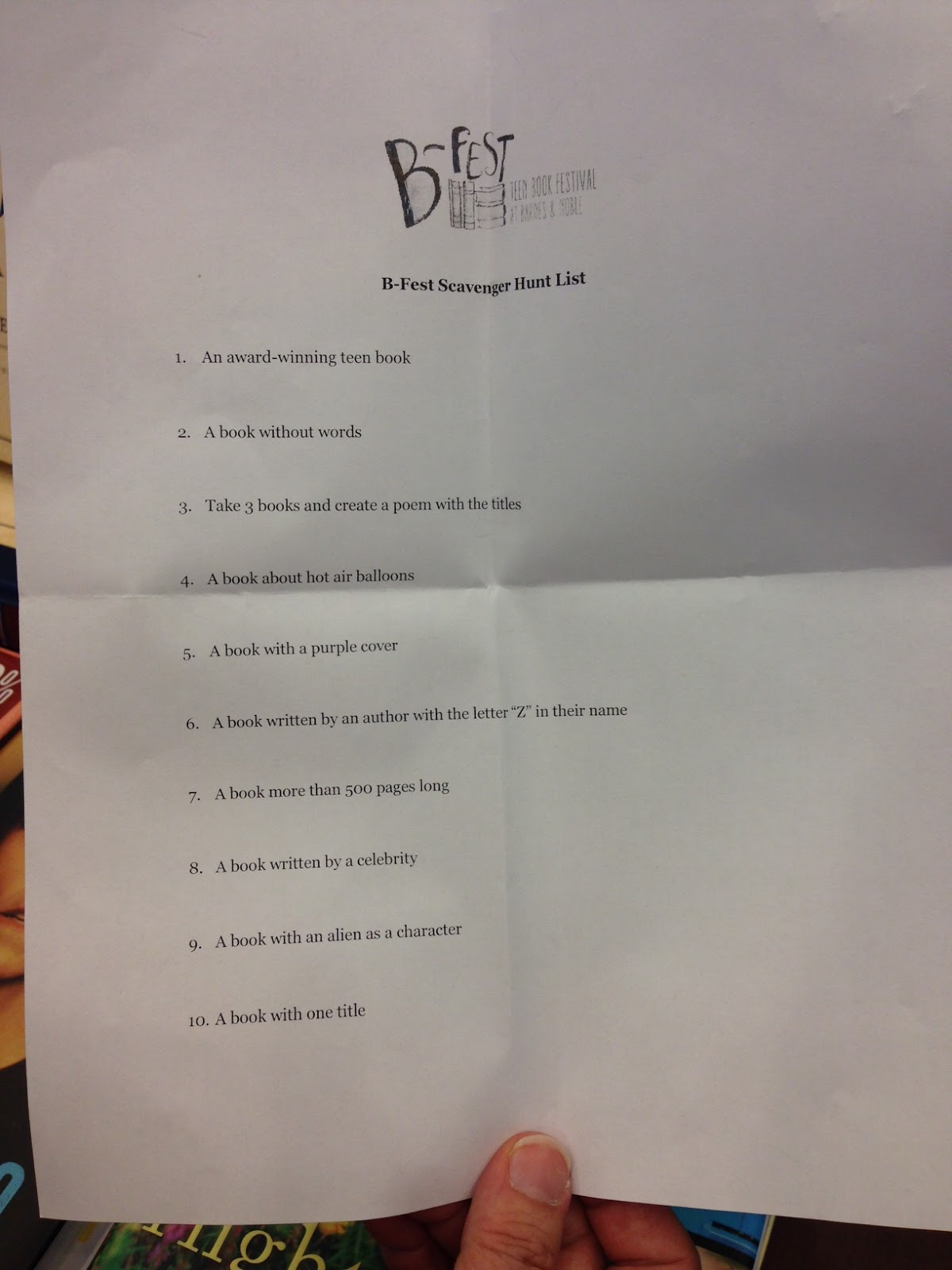 Speaking, Scavenger hunt lists for teens topic has